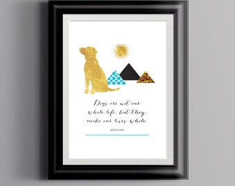 Dog Quote Art Print | Roger Caras Quote | Dog Love Print