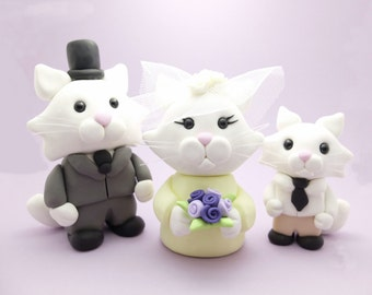 Cat couple wedding cake toppers*