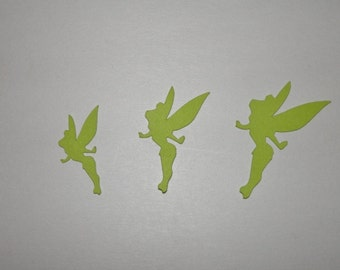 TinkerBell Disney Fairy Die Cuts, Paper Punches Scrapbooking 25 piece you choose color and size