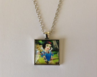 Tattooed Snow White Cameo Necklace