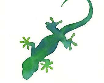 ORIGINAL watercolor gecko, NOT A PRINT!