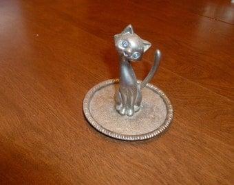 Brass Kitty Ring Holder