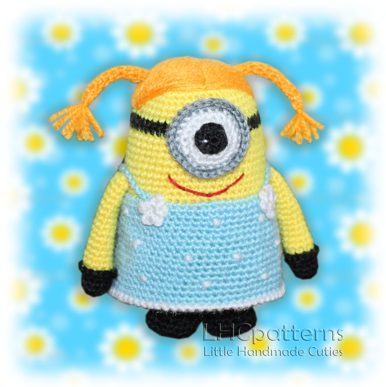 Minion Dave Amigurumi : Crochet Minion Girl Pattern