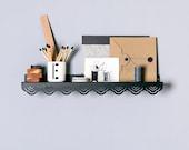Metal Japanese Style Shelf – Metal Shelf for Living Room – Entryway Shelf – Small Steel Shelf – Modern Storage Shelf – Collectibles Shelf