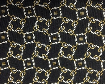 Vintage Christian Dior Monsieur Black Preppy Necktie