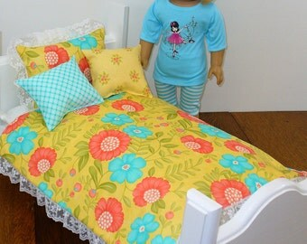 "18 inch Doll Bedding / 18"" Doll Bedding / American Made"