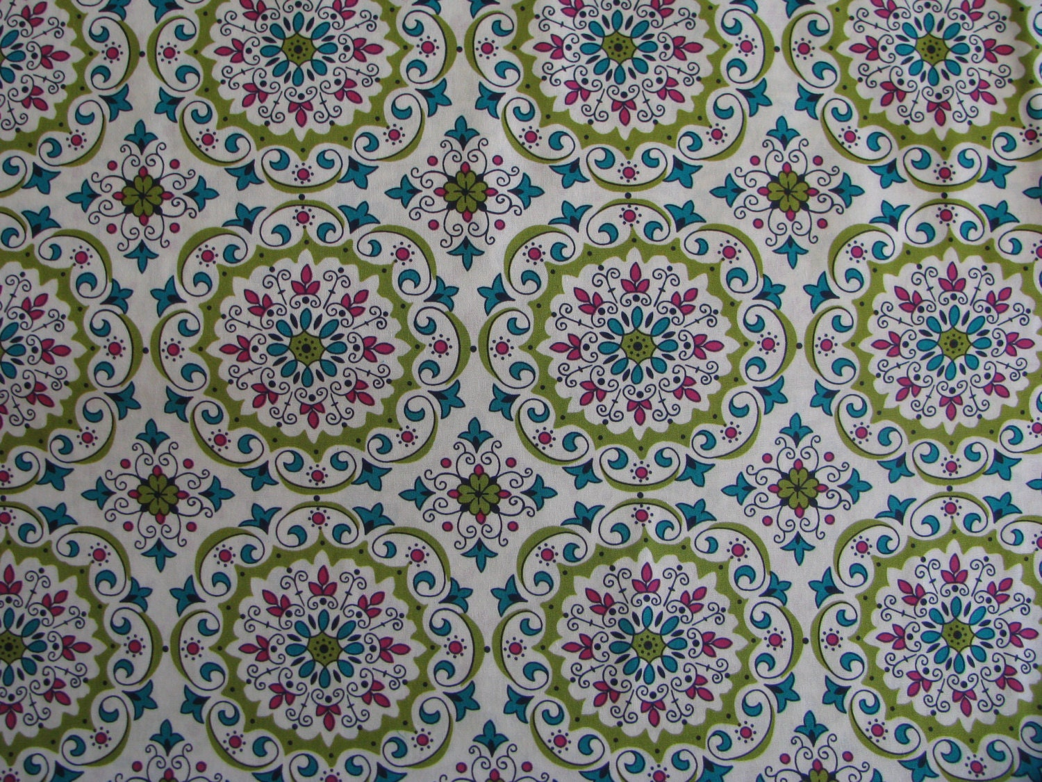 mandala fabric 7 8 yd remnant cotton geometric print natural. Black Bedroom Furniture Sets. Home Design Ideas
