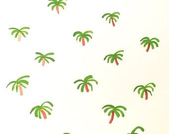 Palm trees acrylic painting (8x10)