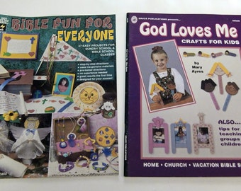 2 Craft Books Christian Children's Activity Projects