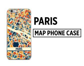 Paris Map Phone Case - Paris iPhone Case - iPhone 6 Case - iPhone 5 Case - iPhone 7 Case