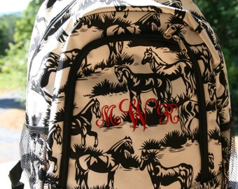 Custom Horse Backpack Girls Bookbag
