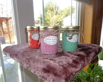 Soy Candles Five  8 oz  Soy candles for Twenty Eight Dollars.  Assorted Fragrances