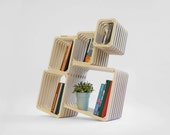Parallel shelving furniture - multi functional - custom shelving - modern - bookshelf - bookcase - box - room divider - open wall furniture