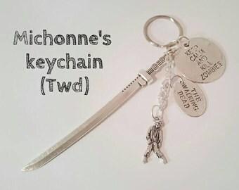 Michonne's keychain. The walking dead.