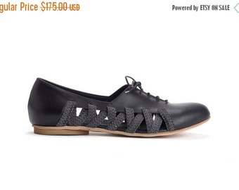 Summer Sale 15% OFF Flats, Lace Up Shoes , Oxford Shoes, Summer Shoes, Leather Shoes, Handmade Shoes,  Women Shoes // Free Shipping