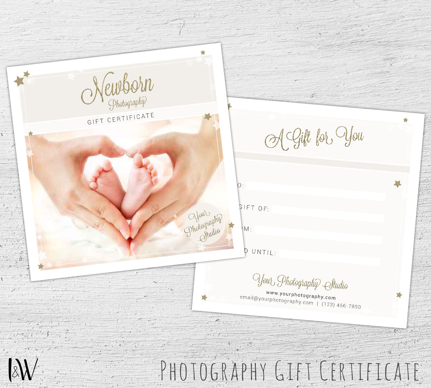 Photography gift card template newborn photography gift zoom yadclub Gallery