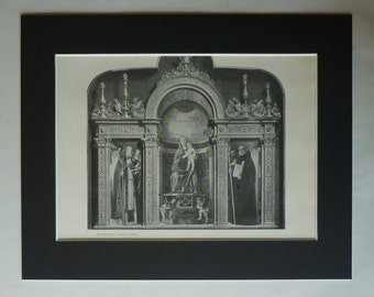 1890s Antique Giovanni Bellini Print, Catholic Altarpiece Decor, Available Framed, Christian Art, Renaissance Gift, Frari Triptych Wall Art