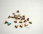 Laser Cut Wood Triangles  9mm, 20 Wood Geometric Tiles for Stud Earrings, Unfinished Wood geometric Tiles for earrings