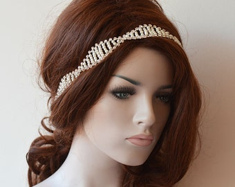 Pearl Wedding headband, Wedding hair Accessory, Pearl Bridal Headband,  Bridal Hair Accessories, Headband Mariage
