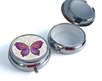 Pill Box - Purple Butterfly