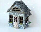 Fairy Cottage House - accessories - Miniature resin fairy garden supply - terrarium supplies - fairy house - willow ridge fairy house