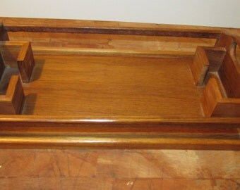 Teak Desk Tray Caddy Winsome Wood made in Thailand