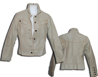 Leather Cream Jacket