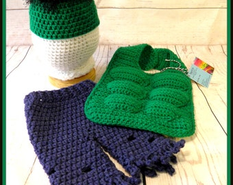 Crochet Baby Hulk inspired Outfit/Photo Prop