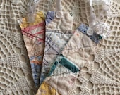 Bookmarks from Vintage Quilt (Set of 3)