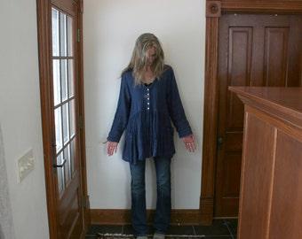 Linen Jacket / 'Iris' Tunic Jacket - by Breathe Clothing