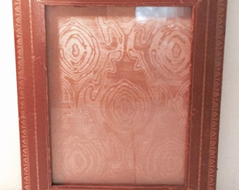 vintage leather picture frame french
