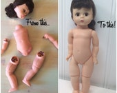 Doll Repair, Doll Stringing Kit, Ginny, Muffie, Betsy McCall, Cissette, Cissy, Dollikin, Doll Restoration, Restring Vintage Dolls, Fix. BJD