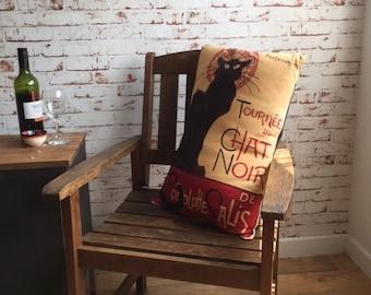 Le Chat Noir [Rodolphe Salis] - Throw Pillow cover