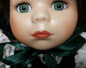 Porcelain Collector Doll With Stand