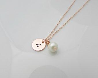 Rose Gold Necklace, Pearl Necklace,Rose Gold Jewelry, Bridesmaid Gifts, Bridesmaid Necklace, Gifts for Girls, British Seller UK, Mom Gift
