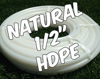 """1/2"""" HDPE hula hoop tubing roll - Make your own hoops!  Comes with insert material 100 ft or 50 ft"""