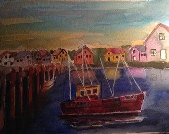 Fishing boat 9 x 12
