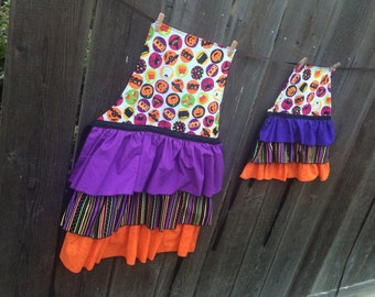 CUSTOM Made To Order Mommy and Me Ruffle Aprons