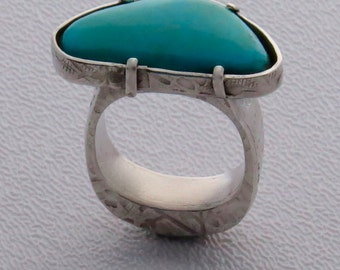 Turquoise Hollow Form Ring