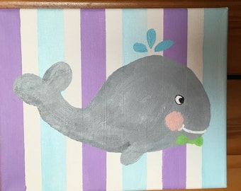 Baby Whale Acrylic Painting