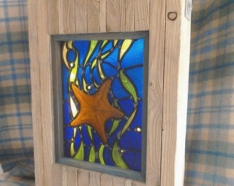 Stained glass 'Starfish' lightbox.