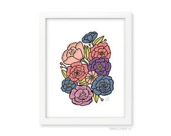 Flower Art Print -  Flower Wall Art - Nature Inspired Art - Home Decor - Pretty Wall Art - 8x10 print