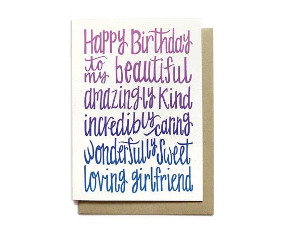 girlfriend birthday card happy birthday to my beautiful