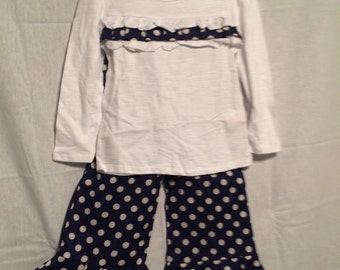 4T Girls Ruffle Pants Outfit