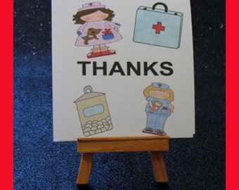 nurse note cards, Nurse Thank You notes, Nurse invitations package of 10