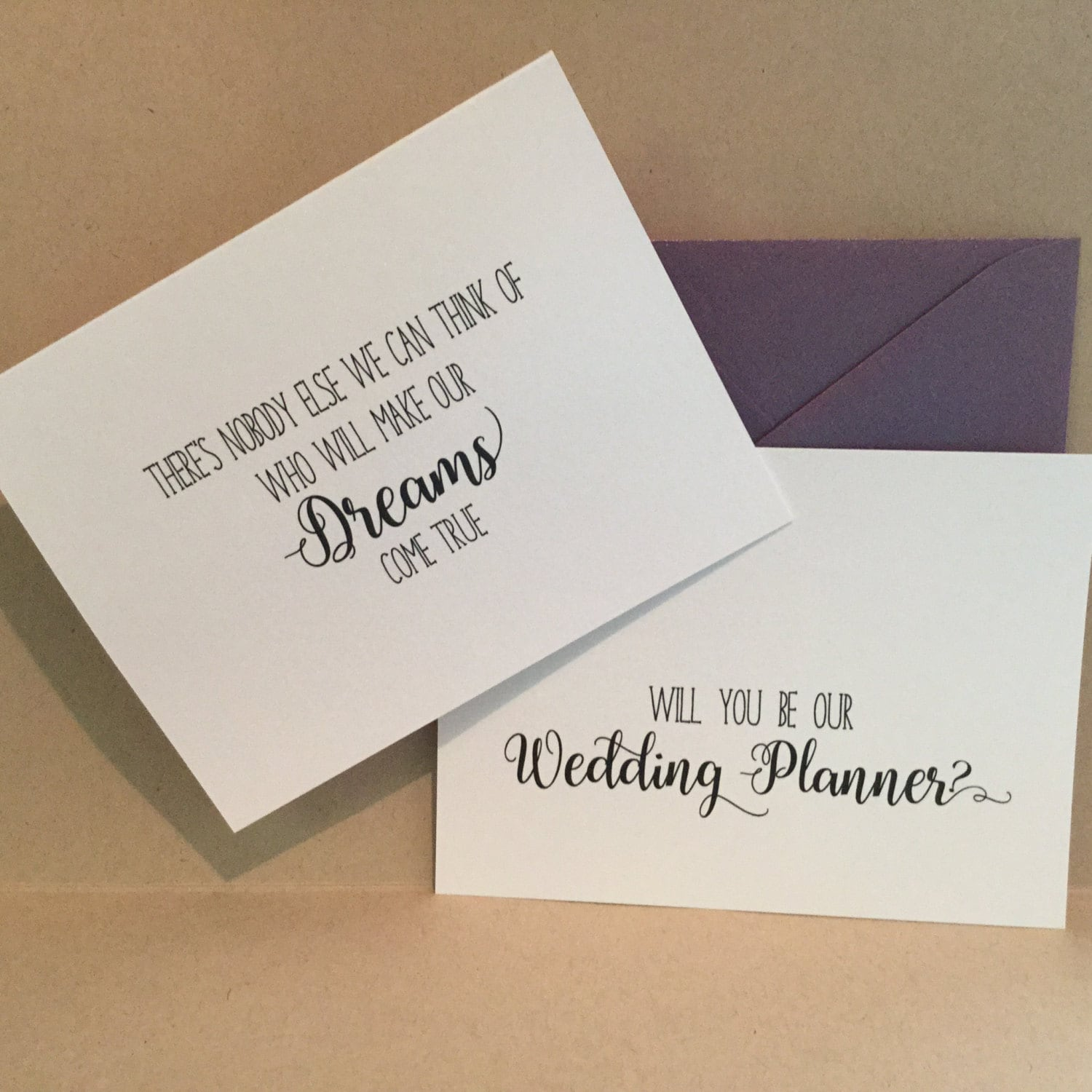 Will you be my wedding planner coordinator card cards proposal zoom magicingreecefo Images