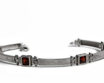 Garnet Bracelet Silver 925 Jewelry Sterling Jewelry