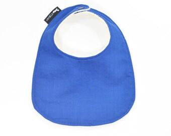 Organic Blue Baby Bib | Organic Blue Toddler Bib | Organic Boy Baby Gift