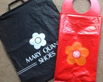 FAB Vintage Rare 1960's Mary Quant Afoot Bag+ Shoe Bag FAB