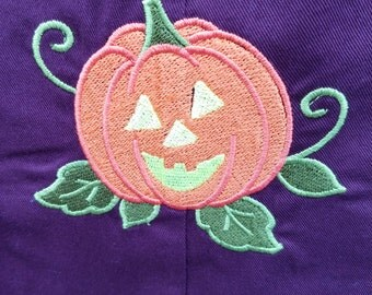 Overalls up to 8LBS Infant embroidered Jack-o'-lantern